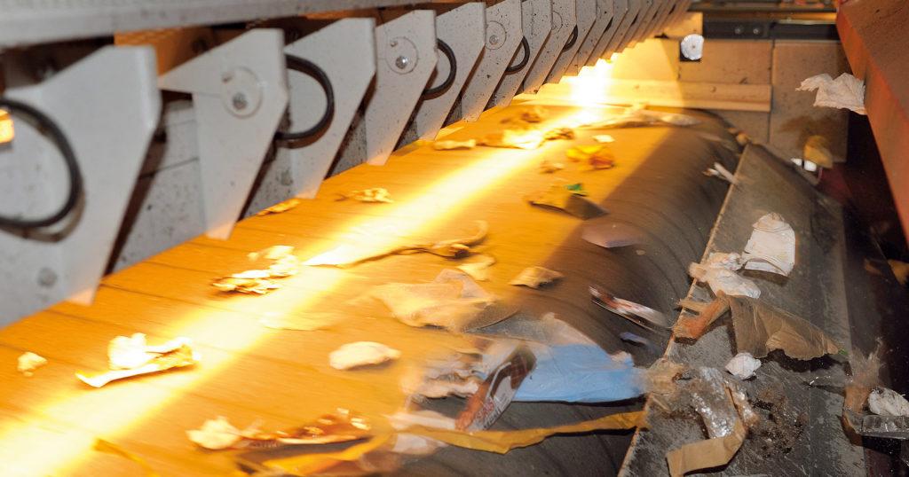 Ökosort Aufbereitungsanlage Lichtreflektoren zur Abfallsortierung