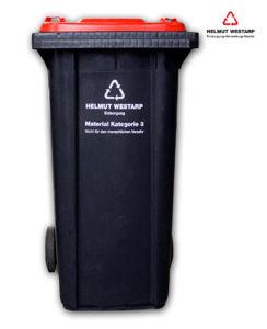 240 ltr. Müllgroßbehälter aus Kunststoff