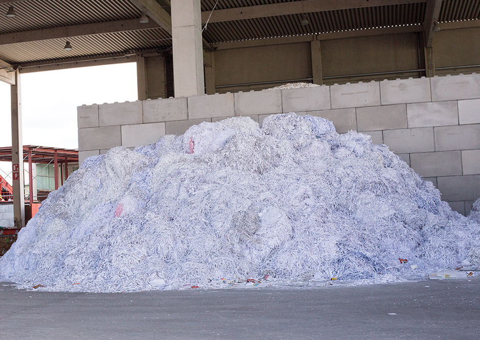 Sortierter Papierabfall