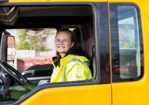 Auszubildenden Berufskraftfahrerin